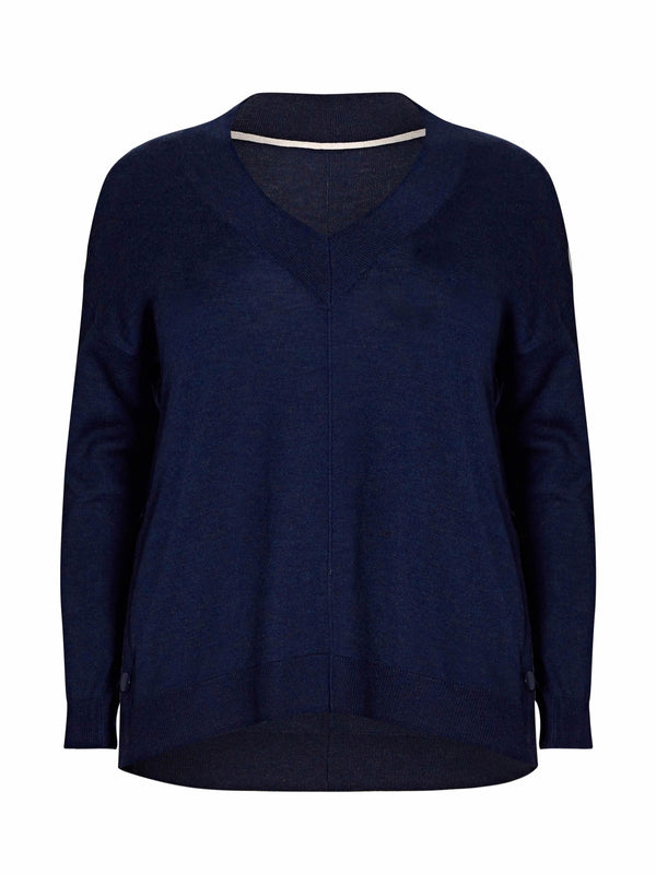 Navy Contrast Jumper - Live Unlimited London