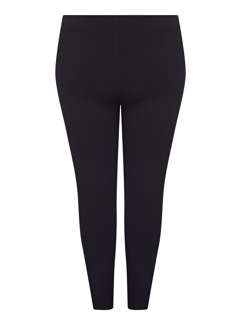 Black Ponte Stitch Detail Legging