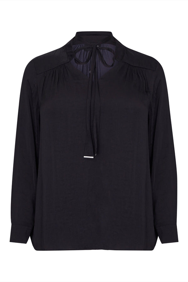 Black Tie Blouse - Live Unlimited London