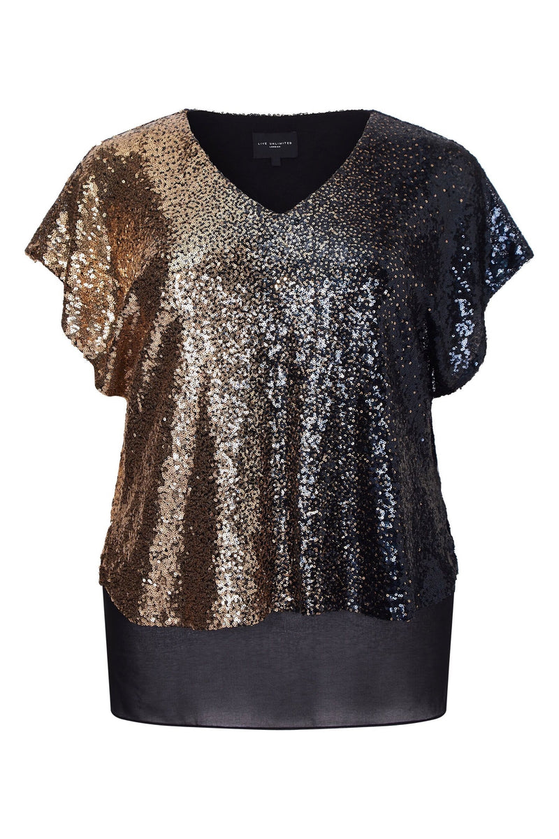 Sequin Ombre Top