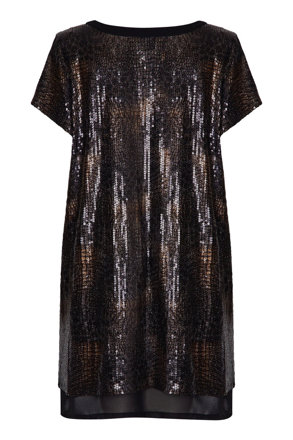 Overlayer Sequin Dress