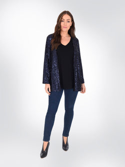 Navy Sequin Jacket