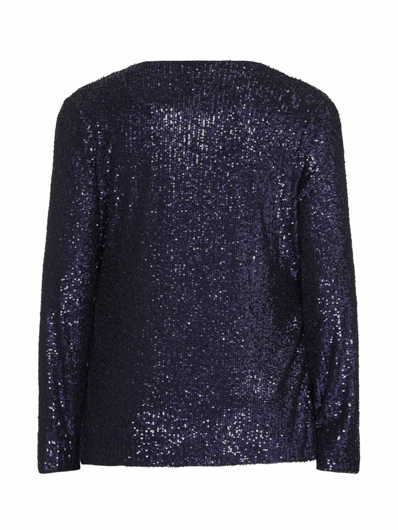 Edge To Edge Sequin Throw On Jacket