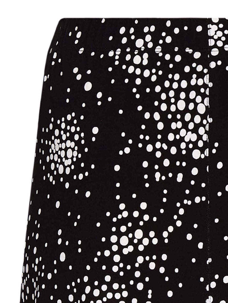 Black Spotted Jersey Skirt