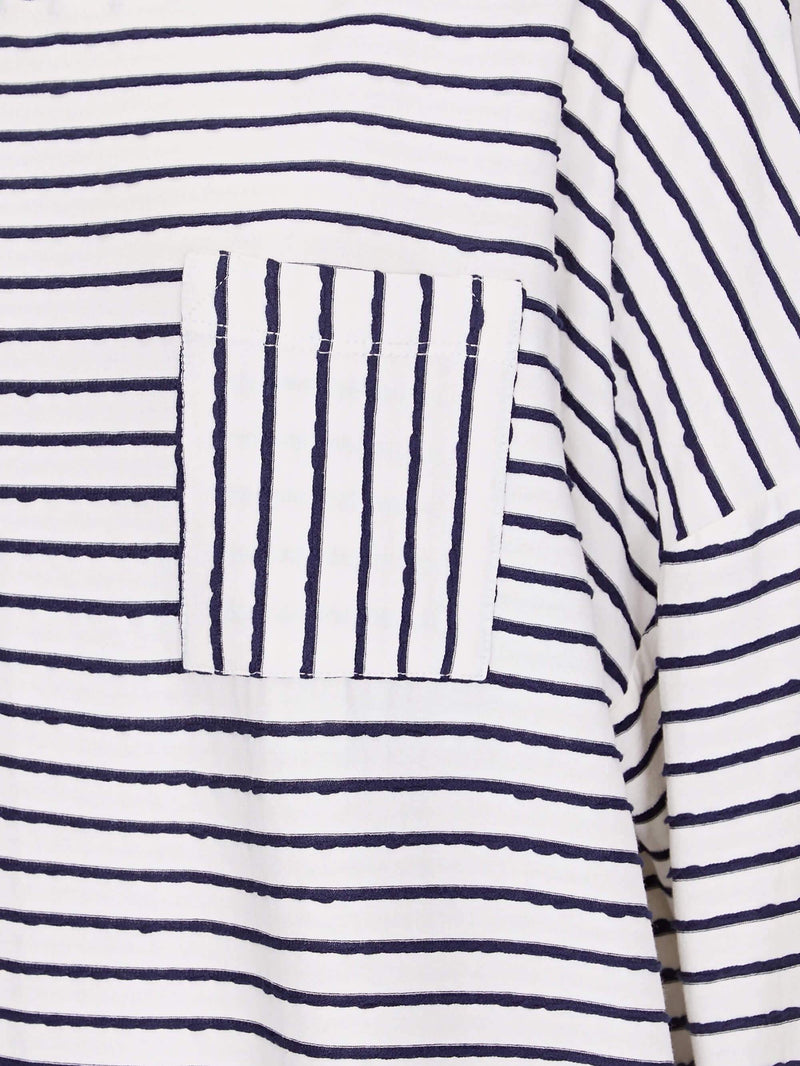 Textured Stripe Tee - Live Unlimited London