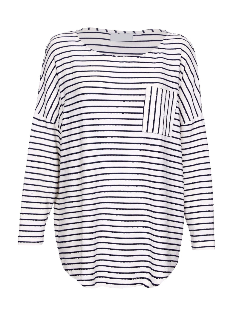 Textured Stripe Tee