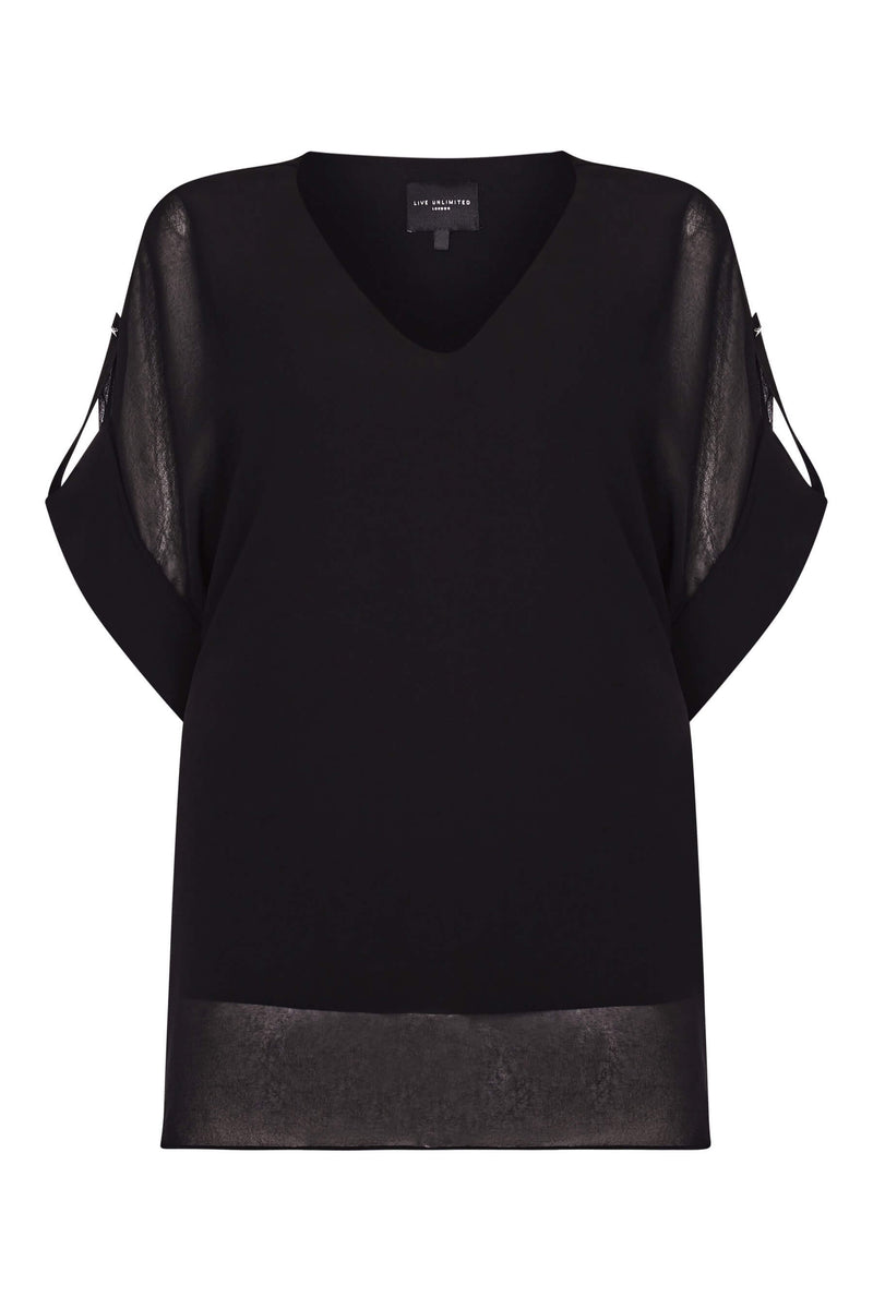 Tab Sleeve Overlay Top - Live Unlimited London