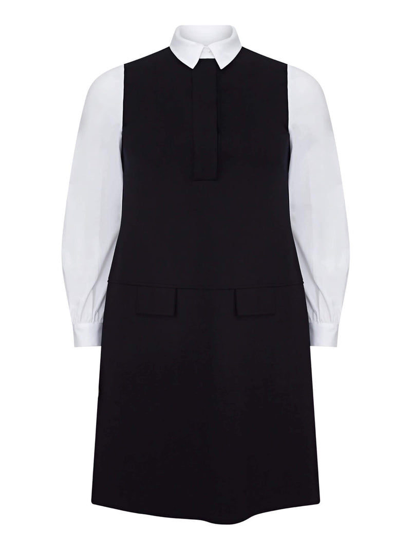 Mono Cotton Sleeve Ponte Dress - Live Unlimited London