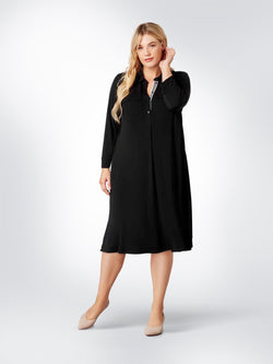 Patch Pocket French Crepe Jersey Dress