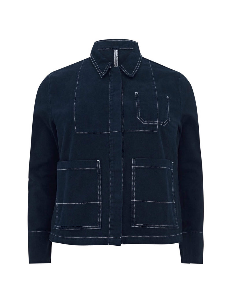 Denim Contrast Stitch Jacket