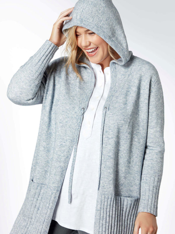 Longline Hooded Cardigan - Live Unlimited London