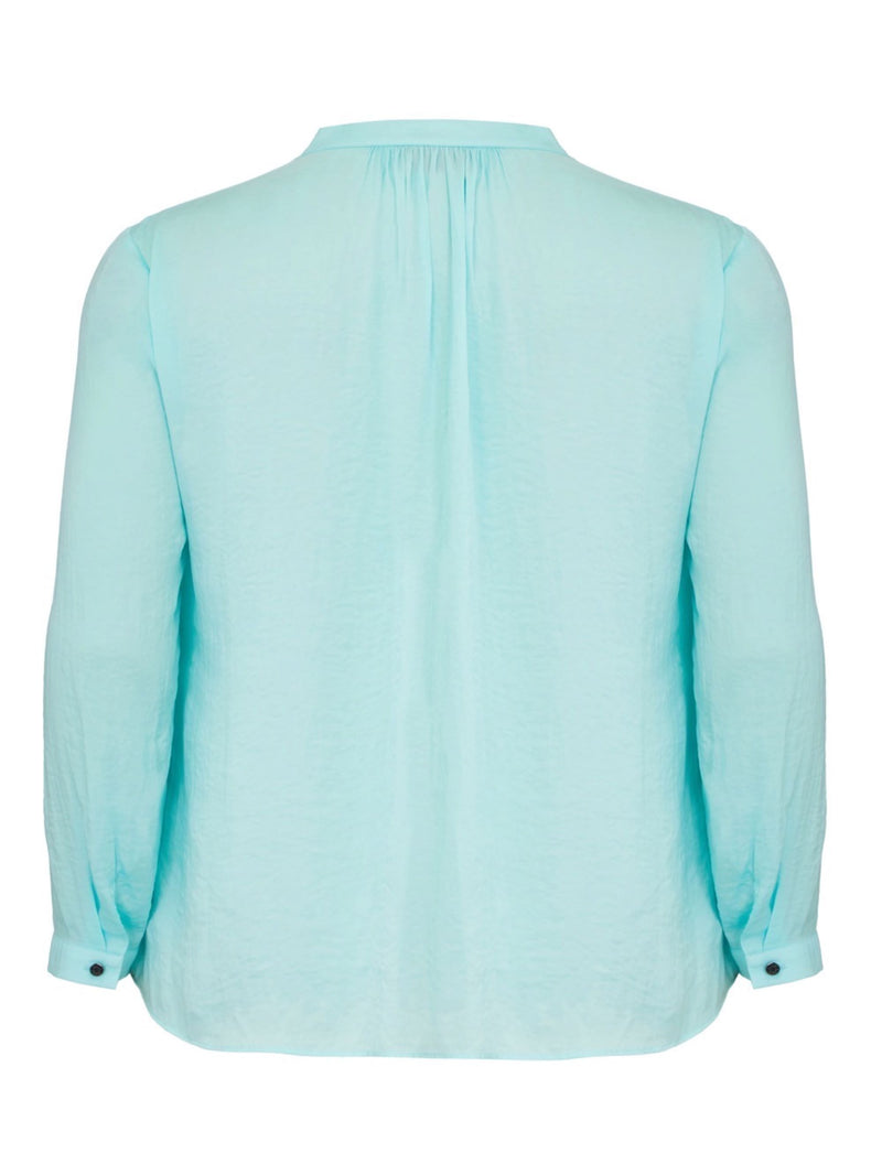 Satin Blouse with Gathered Neck Detail - Live Unlimited London