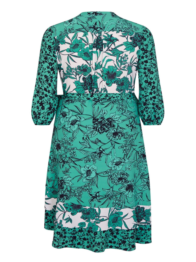 Mixed Floral Ruffle Wrap Dress - Live Unlimited London