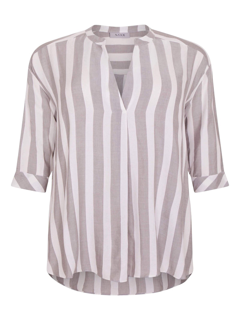 Stripe Pullover Shirt - Live Unlimited London