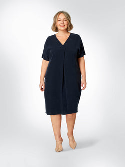 Cupro Cocoon Dress