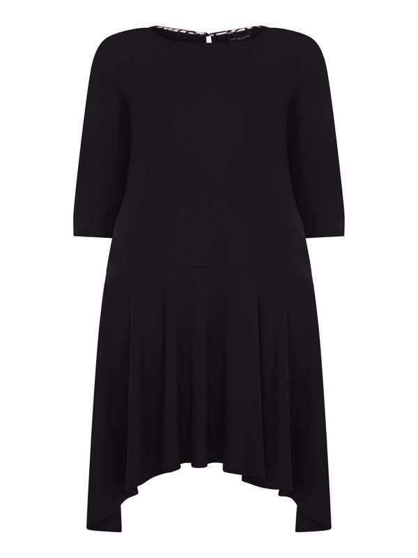 French Crepe Dropped Waist Dress - Live Unlimited London