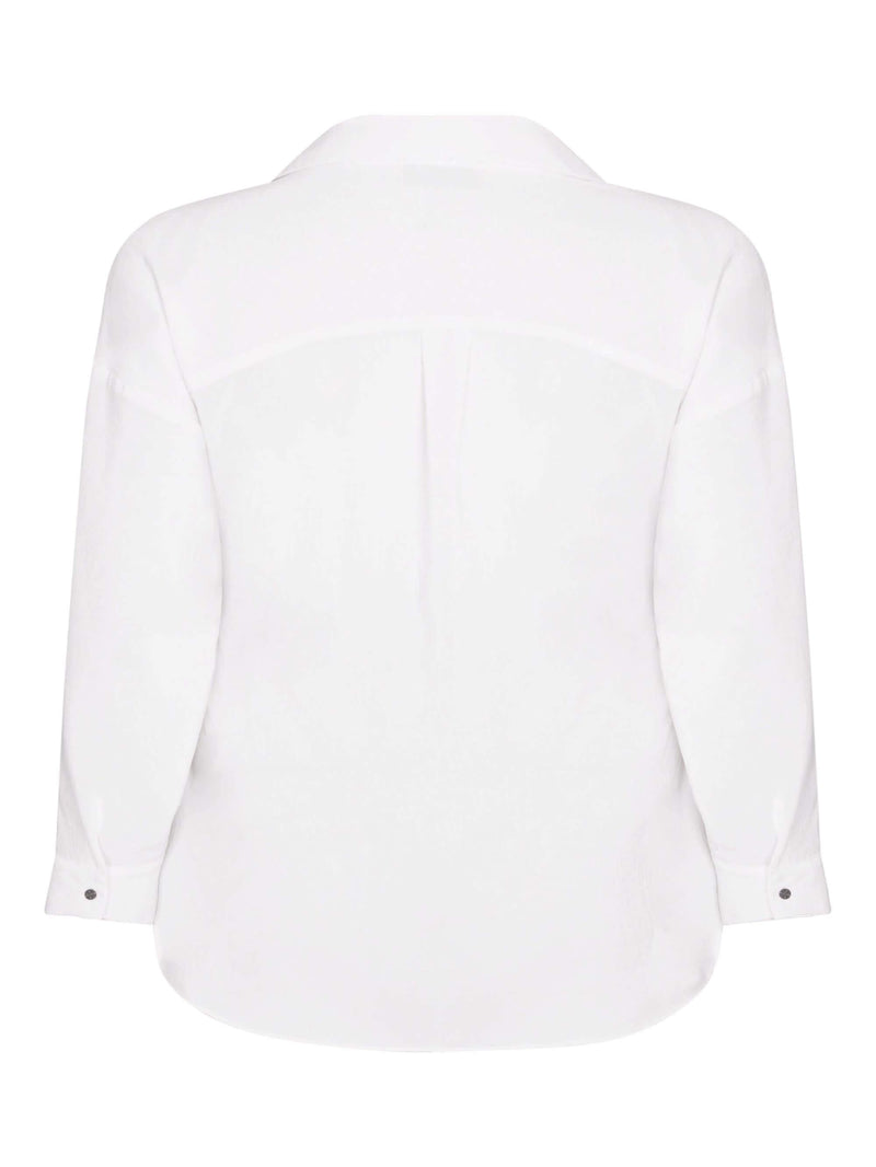 White Twill Shirt - Live Unlimited London