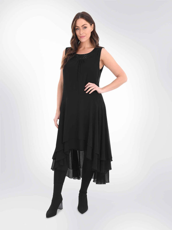 Embellished Neckline Dress - Live Unlimited London