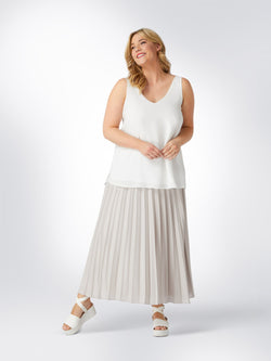 Mink Pleated Skirt