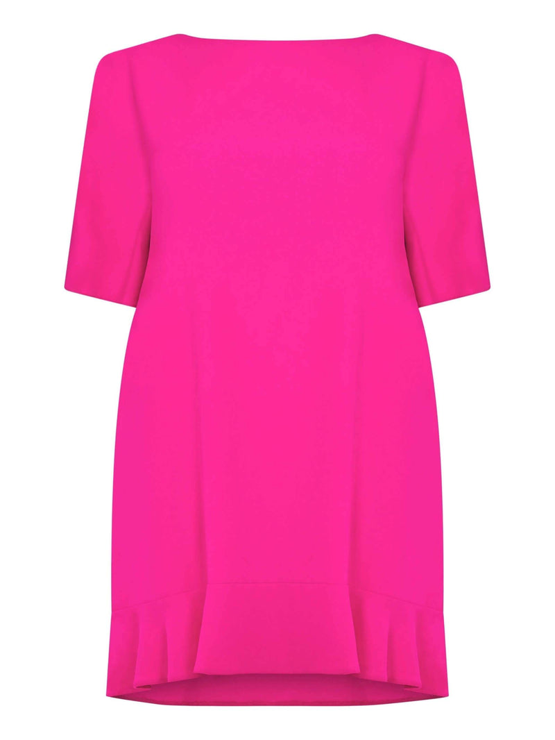 Fushia Ruffle Dress - Live Unlimited London