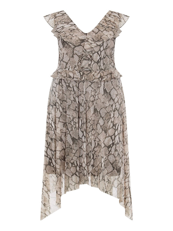 Snake Animal Hanky Hem Dress - Live Unlimited London