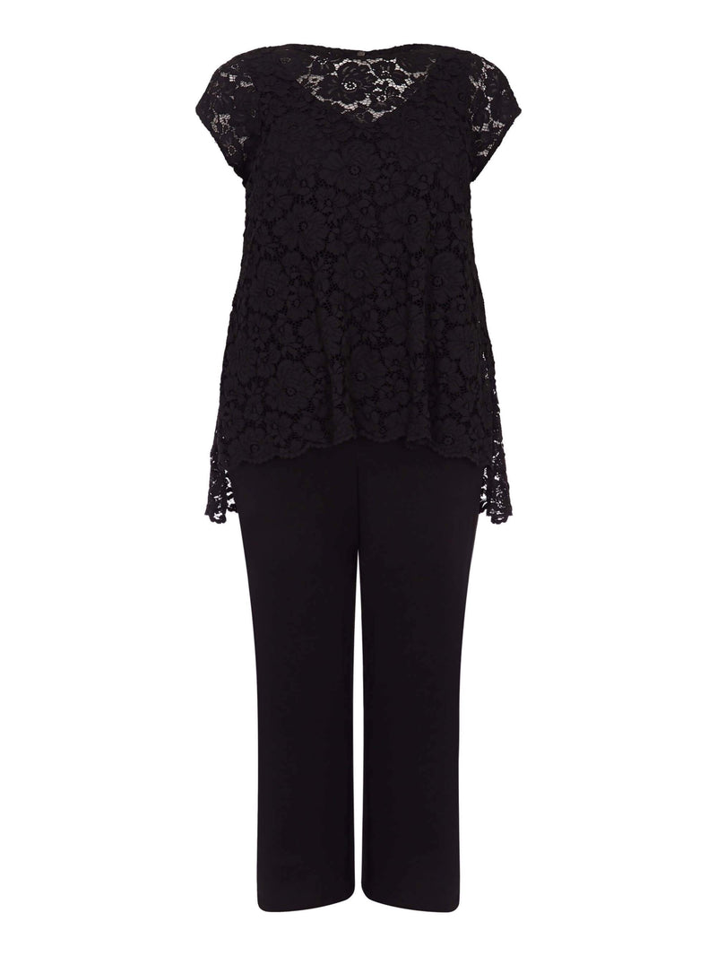 Lace Overlayer Jumpsuit - Live Unlimited London