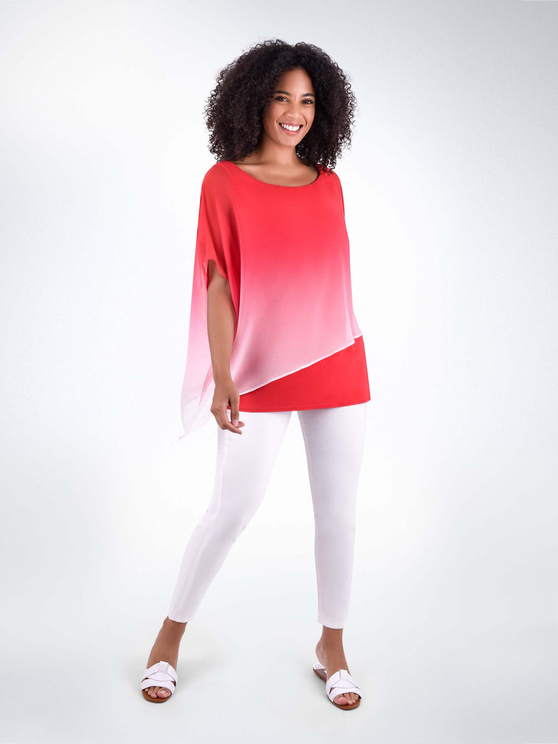 pink ombre overlay top
