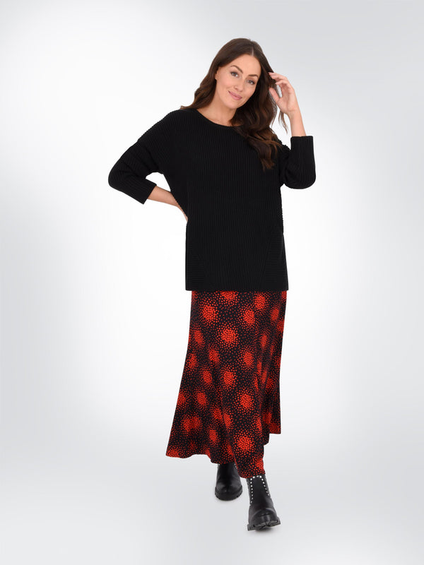 Red Heart Jersey Skirt
