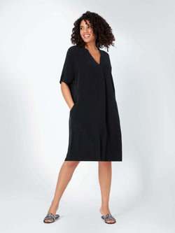 Cupro Dress with Pockets
