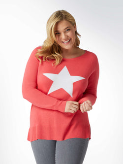 Knit Jumper With Star Motif