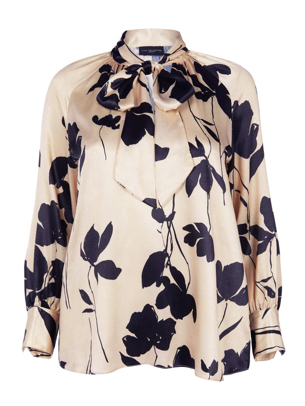 Floral Pussy Bow Blouse