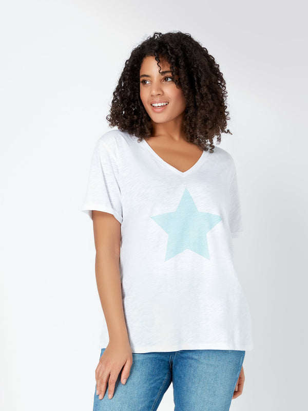 Star Print Tee - Live Unlimited London