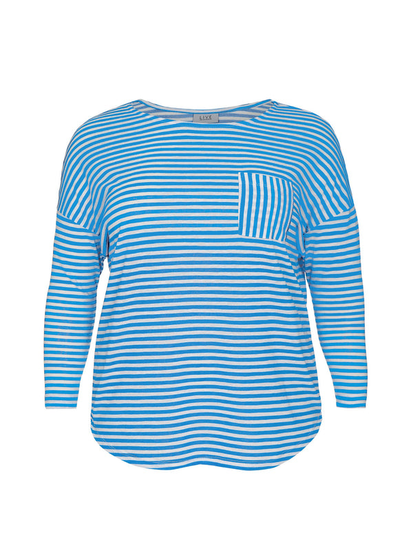 Stripe Top With Pocket Detail