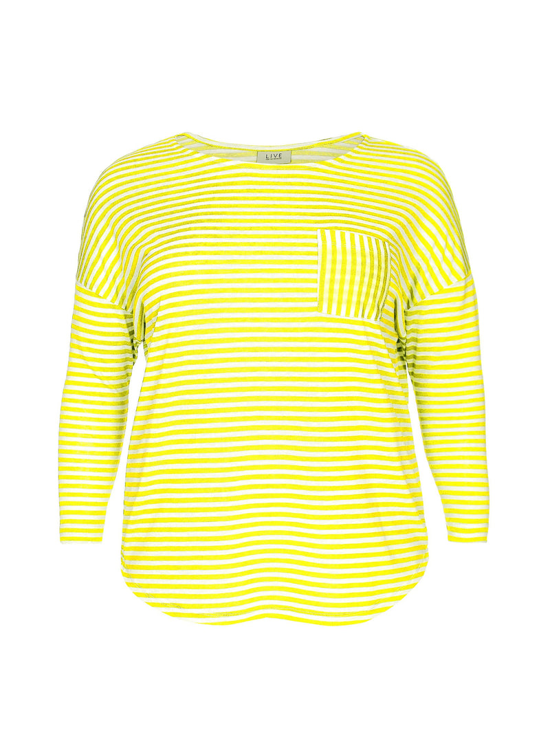Stripe Top With Pocket Detail - Live Unlimited London