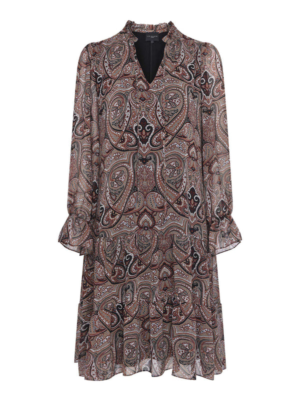 Paisley Tie Neck Detail Dress