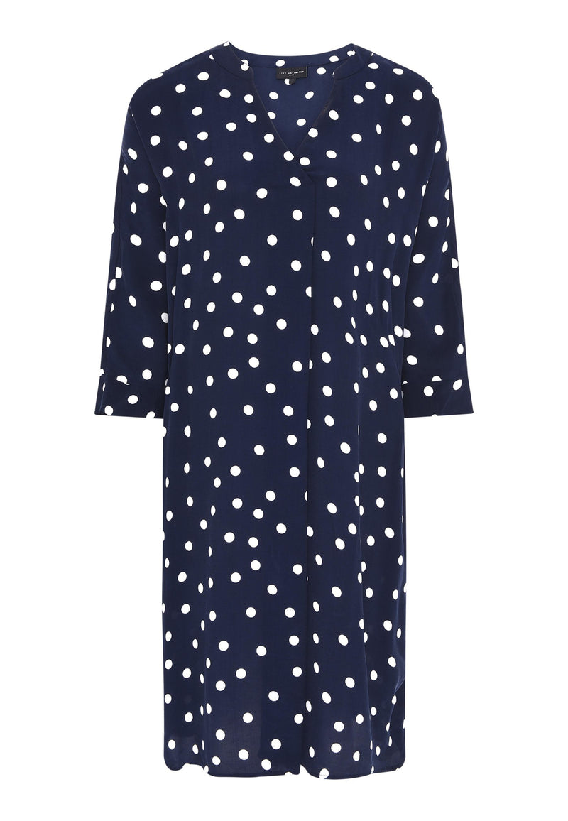 Spot Cocoon Throw On Dress - Live Unlimited London