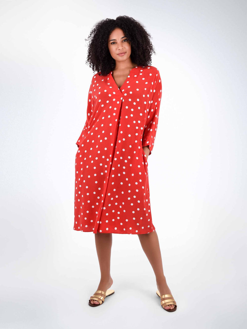 Spot Cocoon Throw on Dress