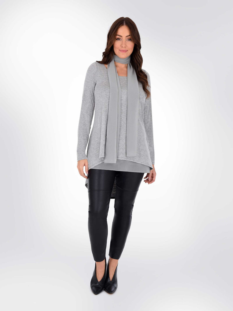 Overlayer Tunic With Tie Detail