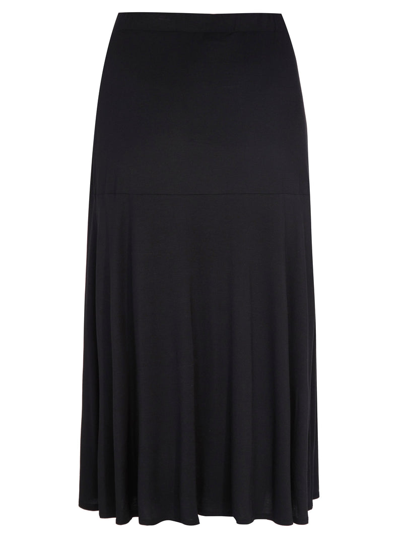 Black Jersey Wrap Skirt