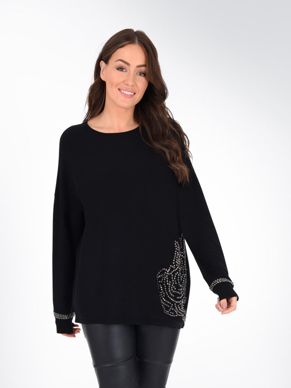 Rose Embellished Jumper
