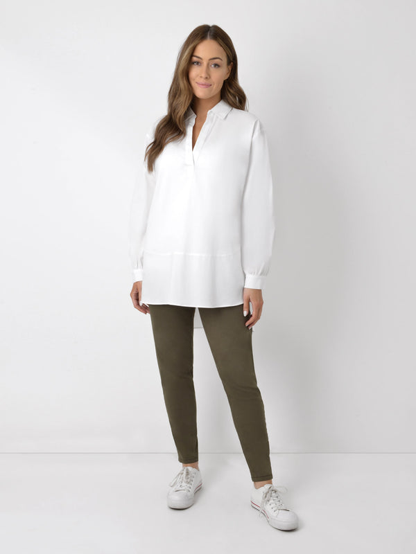 Cotton Shirt With Seam Detail