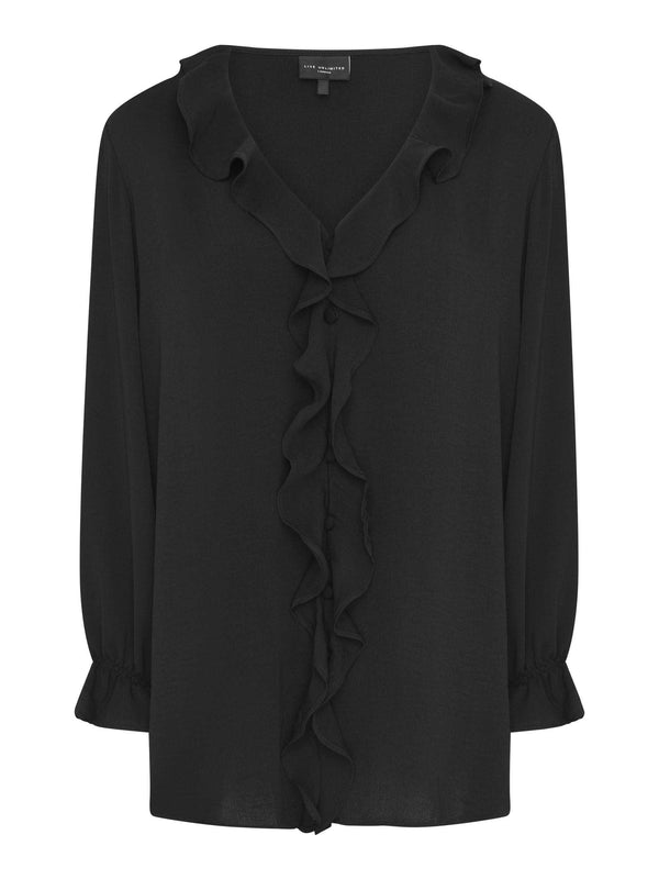 Frill Detail Blouse - Live Unlimited London