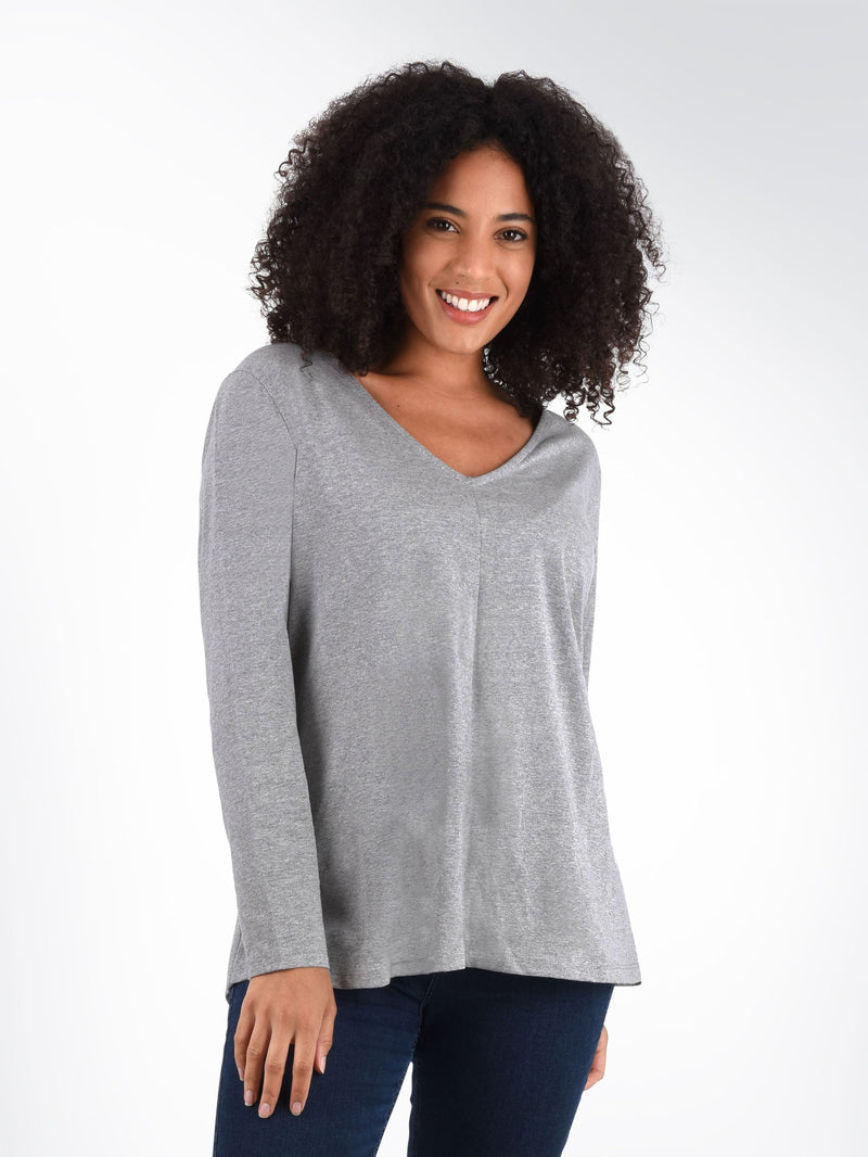 Long Sleeve Cotton Swing Tee