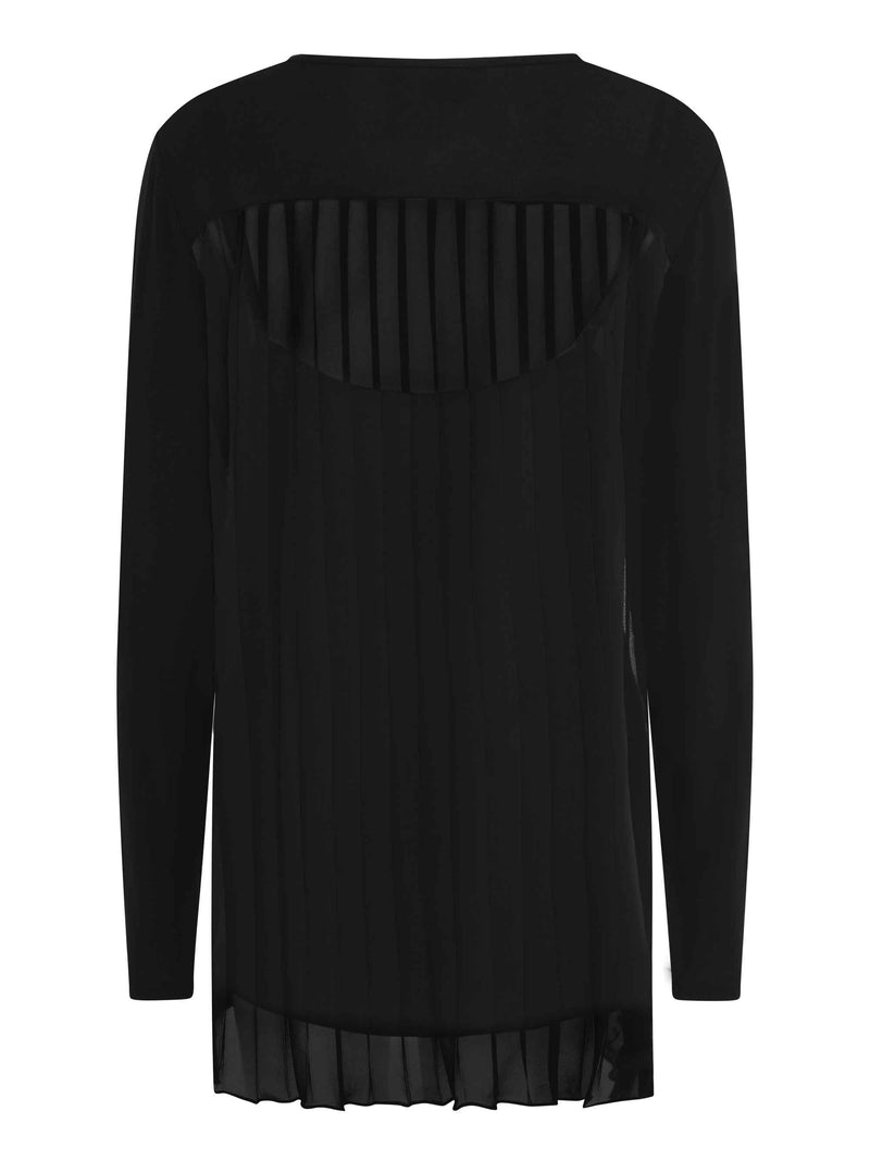 Black Pleated Back Top