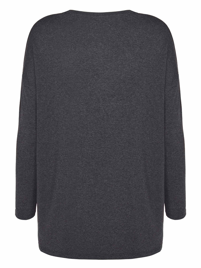 Oversized V Neck Top - Live Unlimited London