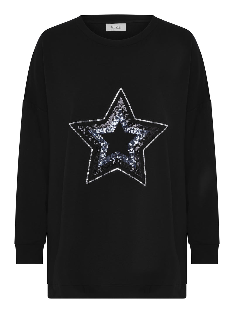 Sequin Star Sweatshirt