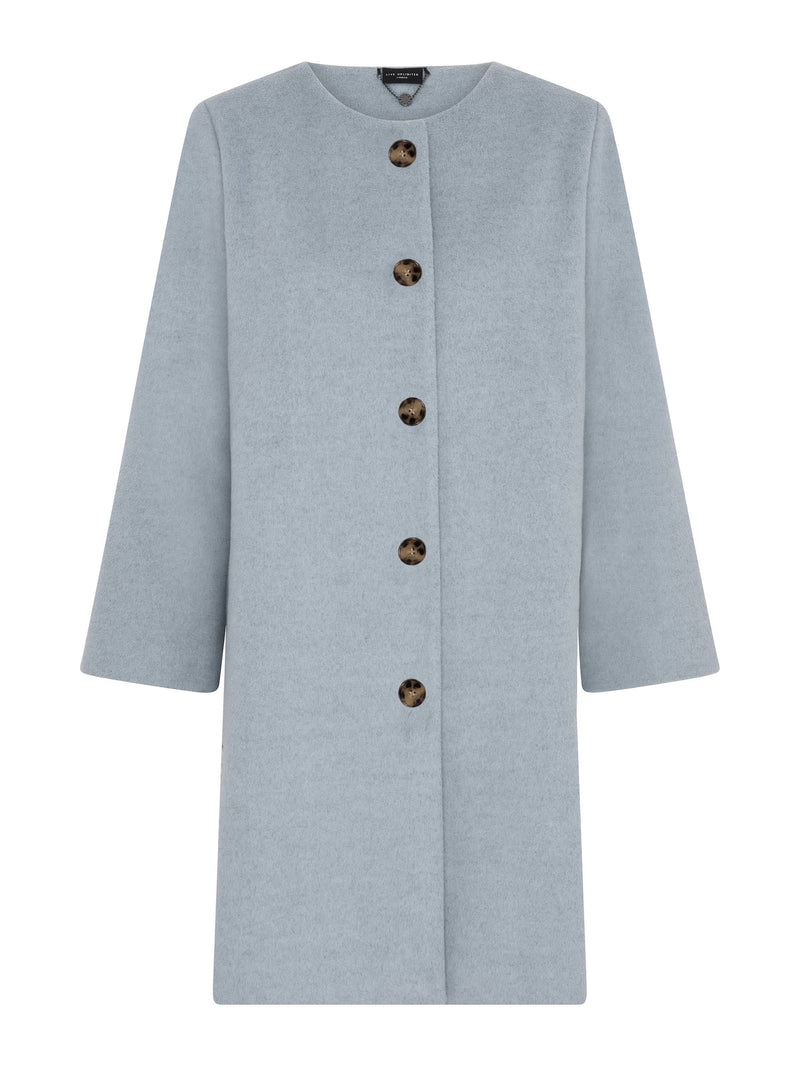 Knee Length A Line Coat - Live Unlimited London