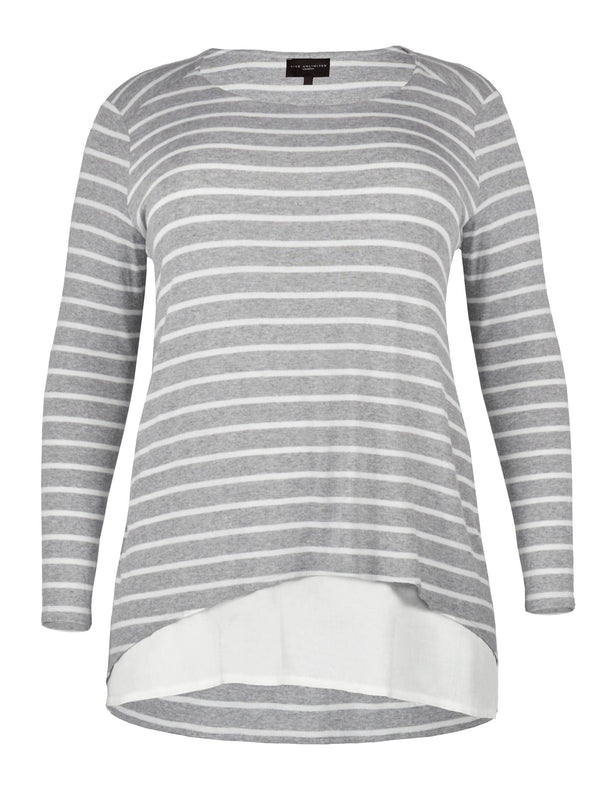 Stripe Double Layer Top