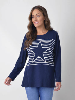Stripe Star Tee