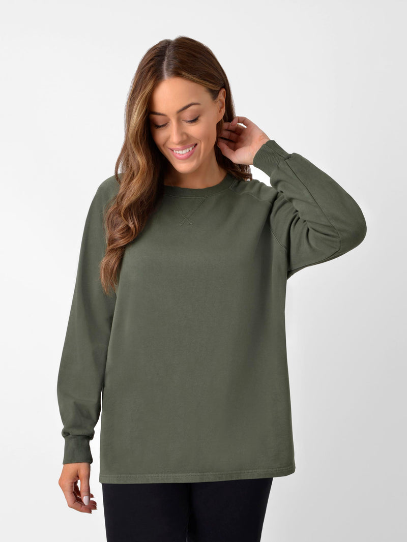 Khaki Cotton Sweatshirt